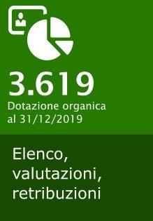 3.619, dotazione organica al 31 dicembre 2019